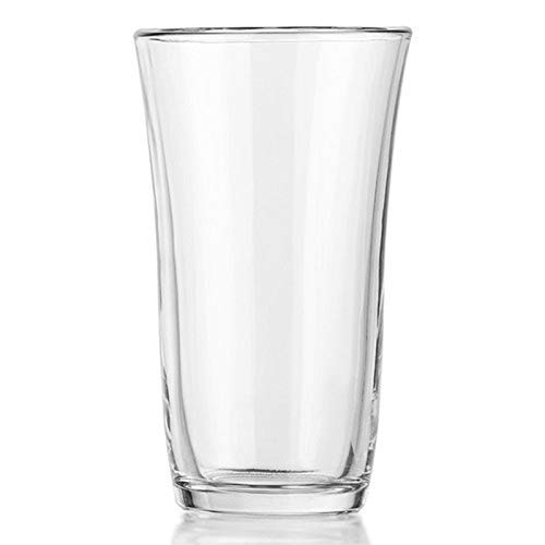 Tumbler Highball Set OF 8-18 oz Heavy Base! Thick Wall! The Substantial Pressed Glass Promises LONG LASTING.! Dishwasher Safe! Sleek Silhouette! Versatile: Water Beverages Beer & Coclktails (8)
