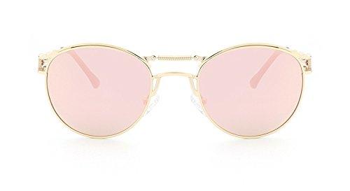 Miroir de revêtement lentille pink Soleil Cadre Rayons Sun de métallique de polarisées Gold Lunettes MY Galsses de 1qwxvAB84U
