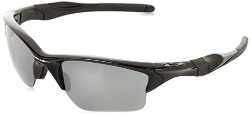 Oakley Men's OO9144 Half Jacket 2.0 Rectangular Sunglasses, Polished Black/Black Iridium, 62 ()