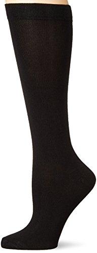 Womens Silk Blend - Hot Sox Women's Originals Classics Novelty Crew Socks, Silk Blend Knee High (Black), Shoe Size: 4-10