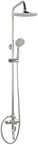 S-TING 蛇口 浴室のシャワーヘッド、昇降、シャワー蛇口セット、ホット&コールドシャワー(カラー:ホワイト) 水栓金具 立体水栓 万能水栓