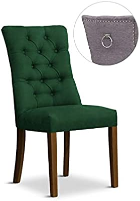 Stuhl Stella 2 Polsterstuhl Esszimmerstuhl Füße aus Holz in der Farbe Schwarz (Honiggelb)