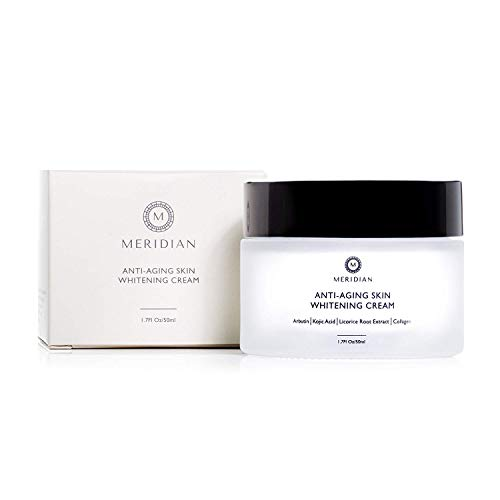 Meridian Skin Care - Anti-Aging Skin Whitening Cream - Corrects Dark Spots, Hyperpigmentation, and Uneven Skin Tone While Moisturizing with Natural Ingredients Arbutin and Kojic Acid, 1.7Fl Oz, 50ml