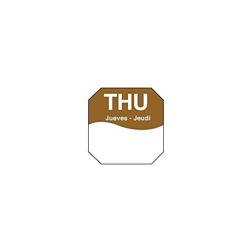 DayMark 1100604 Trilingual Octagonal 1'' Thursday Day Label - 1000 / RL by DayMark Safety Systems