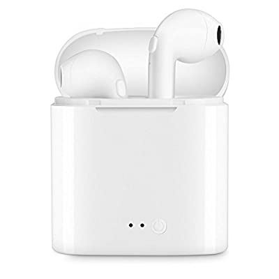 Bluetooth Headphones Wireless Earbuds Mini Earphones in-Ear Stereo Sound Noise Cancelling 2 Built-in Mic Earphones Charging Case-white7