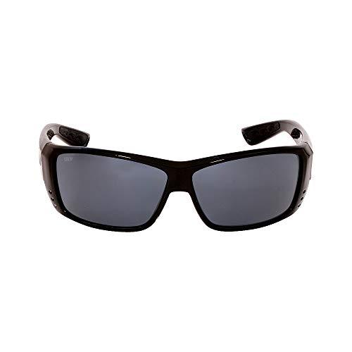Gray Polarized Lens Sunglasses - Costa Del Mar Cat Cay Sunglasses, Black, Gray 580Plastic Lens