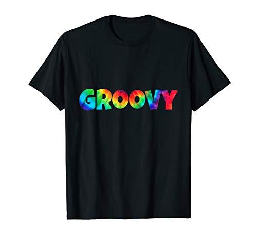 Tie Dye Groovy 1960s Slang Tie Dyed Funky T Shirt