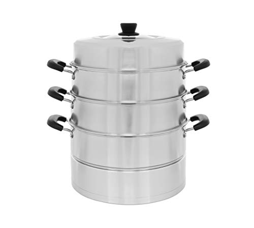 - Concord 4 Tier Stainless Steel Steamer Cookware Pot (28 CM)