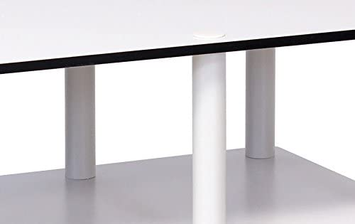 BK //BK Just Mid Light Cherry Television Stand with Black Tube Furinno 11174LC