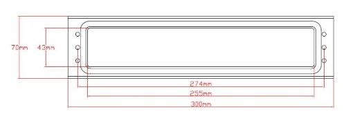 30,48 cm blanco Trojan Unicorn buz/ón con tapas protectoras para puerta de UPVC