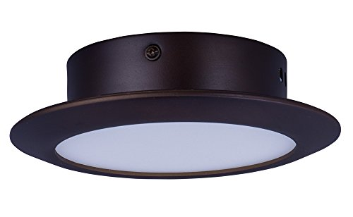 Hilite Glass Sconce (ET2 E21160-01BZ Hilite 1-Light LED Wall Sconce, Bronze Finish, White Glass, LED Bulb, 6W Max., Dry Safety Rated, 2900K Color Temp., Standard Dimmable, Natural Fiber Shade Material, 2300 Rated Lumens)