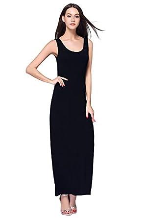 HIKA Women's Casual Sleeveless Tank Top Long Maxi Dress at Amazon ...