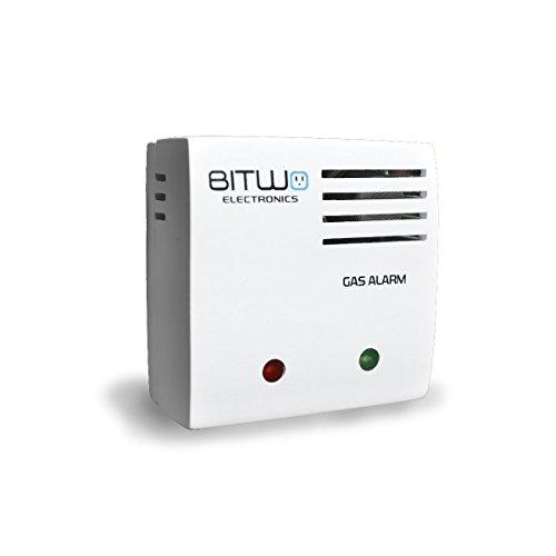 Detector de Gas Detector de Fugas de Gas LP propano y Gas Natural Alarma de Gas Bitwo