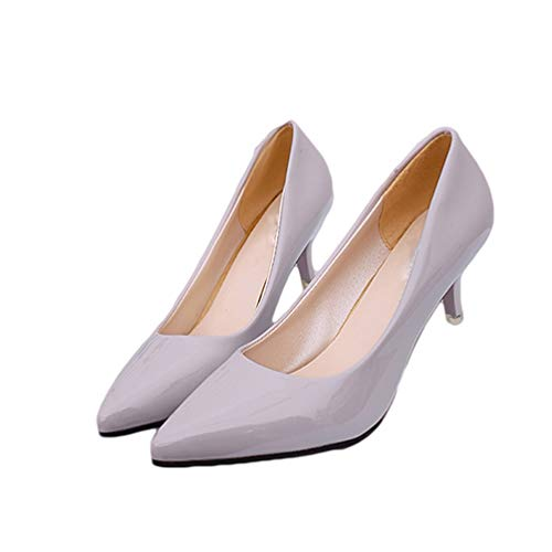 d'affaires Sexy Gris Femmes Travail Mariage de Pompes Chaussures Mode Les Femmes de Pointues Chaussures Orteils Hauts Talons xwTqZTRpY