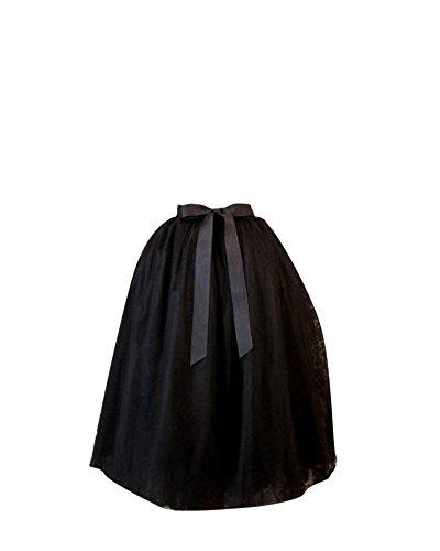 SaiDeng Anne Tulle Femme 50 Elastique En Rockabilly Tutu Vintage Style Petticoat Noir Rtro Longue Jupon rtrFzqS