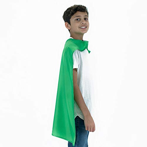 Everfan Green Polyester Satin Superhero Cape - Kids ()