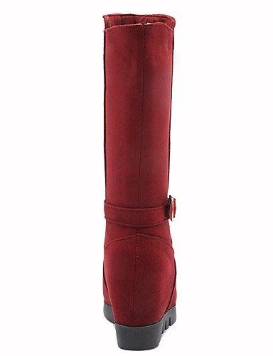 Rojo us8 Vestido Cn39 5 Azul Blue Xzz Negro Cuña De Cuñas Marino Dark A Tacón Uk5 La Blue Zapatos Uk6 Eu39 Punta Vellón us7 Botas Eu38 Mujer Moda 5 Redonda Cn38 Casual S1qSxaAn7w