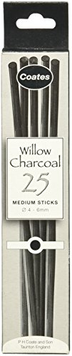 Global Art Materials PH Coates Willow Charcoal, Medium