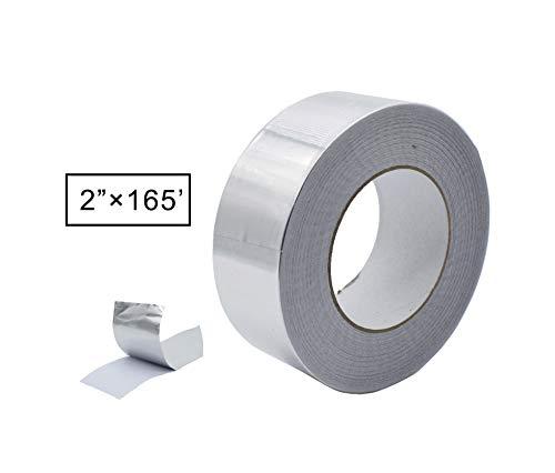 Aluminum Foil Tape, Aluminum Air Duct Tape, Professional Adhesive Aluminum Foil Tape for HVAC, Pipe, 2 inch x 55 yard(3.9mil), 1-Roll (Multi Pack Option Inside)