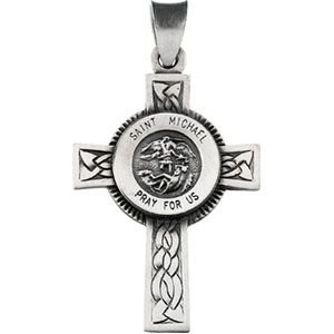 Amazon sterling silver st michael cross with 22 inch chain 1 sterling silver st michael cross with 22 inch chain 1 inch x 15 inch aloadofball Gallery