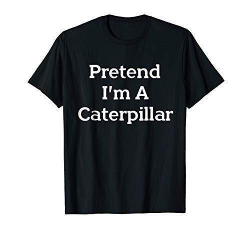 Pretend Caterpillar Costume Funny Halloween Party T-Shirt ()