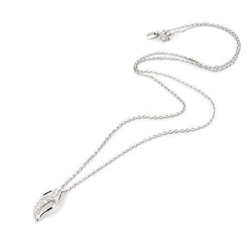 Tous mes bijoux - Collier avec pendentif - Argent 925 - Oxyde de Zirconium - 42 cm - COMO01019