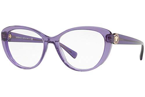 2019 Eyeglasses - VERSACE VE3246B - 5160 EyeGlasses TRANSPARENT VIOLET 52mm
