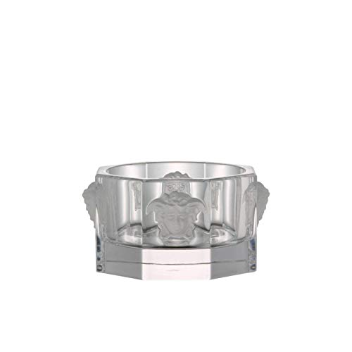 Rosenthal Versace Bottle Coaster Medusa Lumiere - Luxurious Clear Crystal Coaster Designed by Gianni Versace