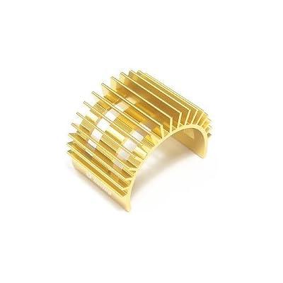 3RACING Integy RC Model Hop-ups 3RAC-MHS003/GO Motor Heat Sink For 540 Motor (Fan-Shaped) - Gold