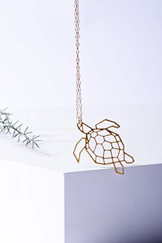 Amazon Com Mizyan S Geometric Turtle Necklace Gold Sea