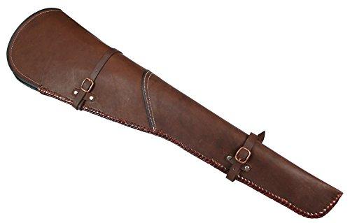Historical Emporium Men's Western Plain Leather Rifle Scabbard Sorrel Brown