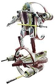 - Hasbro Star Wars 2009 Transformers Kit Fisto to Jedi Delta-7 Starfighter