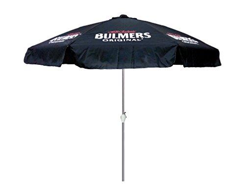 Bulmers 9 Ft. Black Beer Logo Aluminum Market Patio Umbrella