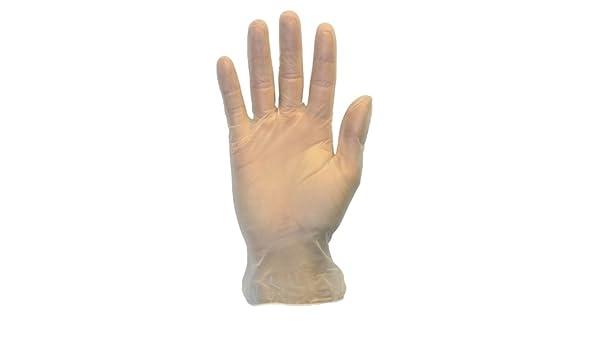 ligeramente con polvo plástico limpieza al por mayor barato látex libre y alergia libre plástico The Safety Zone GVDR-XL-1 Desechables guantes de vinilo servicio de alimentos látex libre y alergia libre claro trabajo