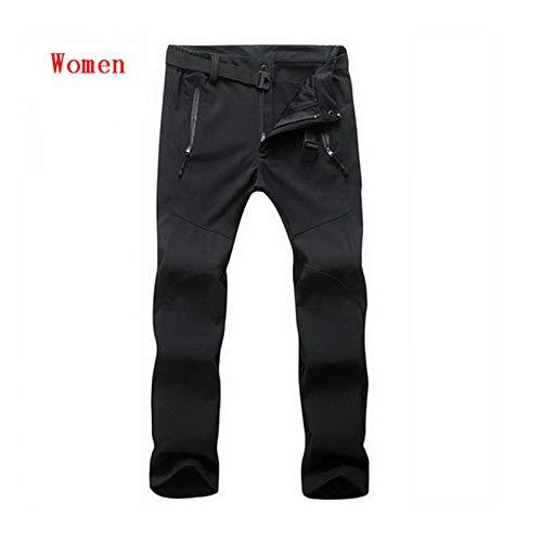 Women Invernali Uomo Qzhe Outdoor Da Softshell Pantaloni Impermeabili Jm019 Black Sportivi Antivento Termici Trekking qZBS7w