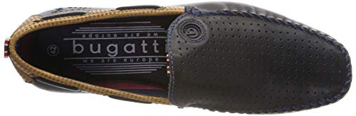Cognac dark Bugatti 321704661010 Blue Slipper Blau Herren 4163 wpwZ6YBxq