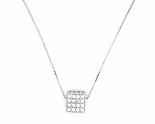 Pegaso Gioielli-Collier or blanc 18kt avec traversantes-Dadino avec zirconium
