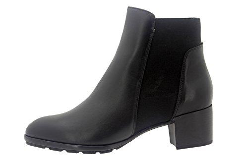 Calzado mujer confort de piel Piesanto 7904 botín casual cómodo ancho Negro