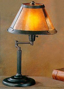 Cal Lighting BO-462 Table Lamp with Mica Glass Shades, Rust Finish by Cal
