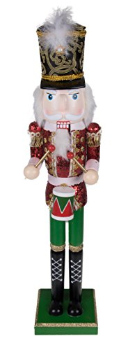 """(Traditional Drummer Nutcracker by Clever Creations 