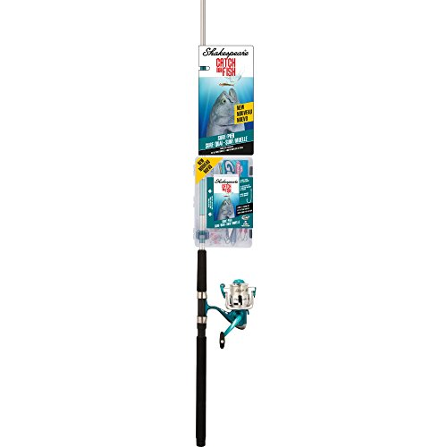 Shakespeare CMF2SURFPIER Catch More Fish Surf Pier Spinning fishing Reel Rod (Surf Fishing Pier)