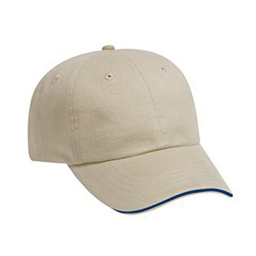 Sandwich Cotton Brushed Twill (Otto Caps Brushed Cotton Twill Sandwich Visor Solid Color Low Profile Pro Style Cap with Velcro)