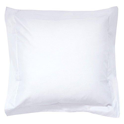 Taie d'oreiller coton uni 65x65-Blanc