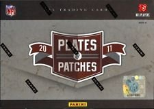 2011 Panini Plates & Patches Football Cards Hobby Box (Football Card Box 2011 compare prices)