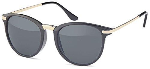 Style Retro Noir Années Unisexe finition Lunettes Vintage de Femmes soleil hommes bronze avec en Montures en trendy couleur pour métal tendance smoke amp; lunettes 60er ng818qc