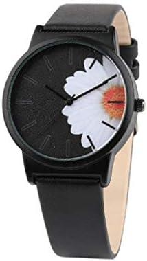 HunYUN デザイナー クリエイティブ シンプル ファッション スケール カジュアル 花柄 文字盤 ベルト クォーツ 女性用腕時計 カスタマイズギフト FREE SIZE ブラック