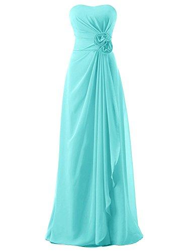 Strapless AN155 Chiffon Empire Aqua Draped Women's Anlin Evening Bridesmaid Long Dress pwqA4XxzE