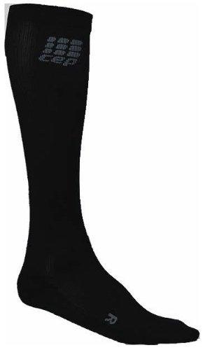 CEP Men's Running O2 Compression Socks (Black - V (17.25-20 inch calf)) by CEP Compression