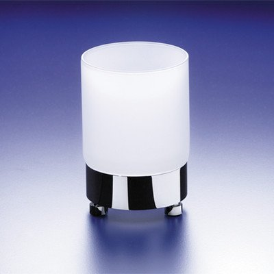 Windisch Crystal - Windisch by Nameeks Round Frosted Crystal Glass Tumbler Finish: Chrome w/Frosted Glass