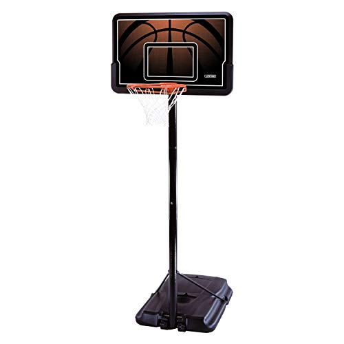 Lifetime 90040 Height Adjustable Portable Basketball System, 44 Inch Backboard (Goal Basketball Garage)
